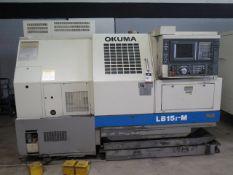 Okuma LB15 II-M CNC Turning Center s/n 0808-3093 w/ Okuma OSP-U100L Controls, Live Tool, SOLD AS IS