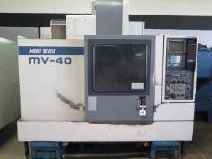 Mori Seiki MV-40 CNC VMC s/n 3234 w/ Fanuc MF-M4 Controls, 20 Station ATC, SOLD AS IS