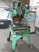 """Burgmaster 6-Station Turret Drill Press w/ 21"""" x 24"""" Table (SOLD AS-IS - NO WARRANTY)"""