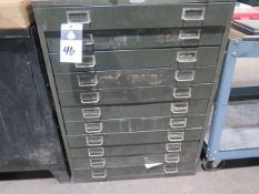 11-Drawer Cabinet and Steel Cabinet (SOLD AS-IS - NO WARRANTY)