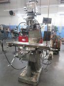 Bridgeport Series 1 - 2Hp Mill s/n 197388 w/ DRO Programmable DRO, 60-4200 Dial Change, SOLD AS IS