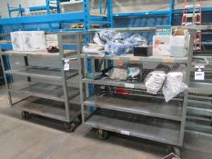 Stock Carts (2) w/ Safety Supplies (SOLD AS-IS - NO WARRANTY)