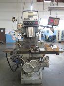 Gorton 2-30 Variable Speed Power Mill w/ Anilam Wizard DRO, 0-3500 RPM, Universal Kwik-Switch