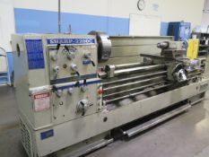 """2003 Sharp 2280C 22"""" x 80"""" Geared Head Gap Bed Lathe s/n 1312124 w/ 15-1500 RPM, Inch/mm, SOLD AS IS"""