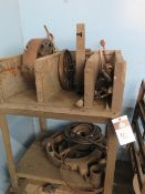 """15"""" 4-Jaw Chuck, 18"""" and 12"""" Face Plates and Misc w/ Cart (SOLD AS-IS - NO WARRANTY)"""