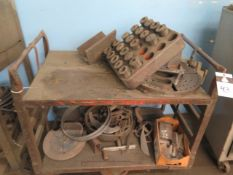 3-J Collets (21) and Misc Lathe Tooling w/ Cart (SOLD AS-IS - NO WARRANTY)