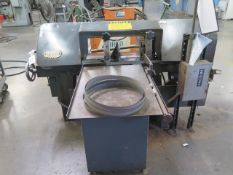 "Kalamazoo H9AWV 9"" Horizontal Band Saw s/n 15966 w/ Manual Clamping, Work Stop, Coolant, SOLD AS IS"