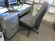 Desks, File Cabinets and Chairs (SOLD AS-IS - NO WARRANTY)