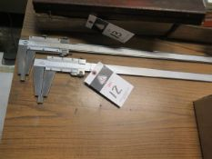 """Kanon 24"""" and Mitutoyo 18"""" Vernier Calipers (2) (SOLD AS-IS - NO WARRANTY)"""
