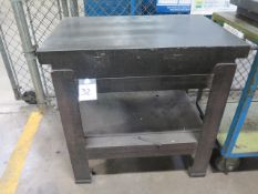 """24"""" x 36"""" x 5"""" 2-Ledge granite Surface Plate w/ Stand (SOLD AS-IS - NO WARRANTY)"""