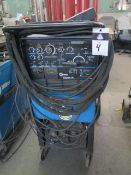 Miller Syncrowave 250 CC-AC/DC Arc Welding Power Source s/n KK257806. w/Cooler Cart SOLD AS-IS