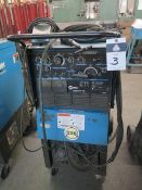 Miller Syncrowave 250 CC-AC/DC Arc welding Power Source s/n KH483474 w/ Cooler Cart SOLD AS-IS