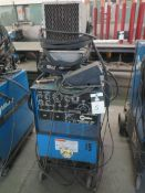 Miller Syncrowave 250 CC-AC/DC Arc Welding Power Source s/n KF945407 w/ Cart SOLD AS-IS