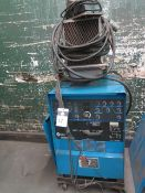 Miller Syncrowave 250DX Arc Welding Power Source (NEEDS REPAIR) s/n LB146264 w/ Cooler (SOLD AS-IS -