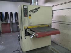 "Cemco 1000 mdl. UR-1137SEMD 36"" Belt Grainer s/n JR-1177-1 w/ Rand Bright dust collector, SOLD AS IS"