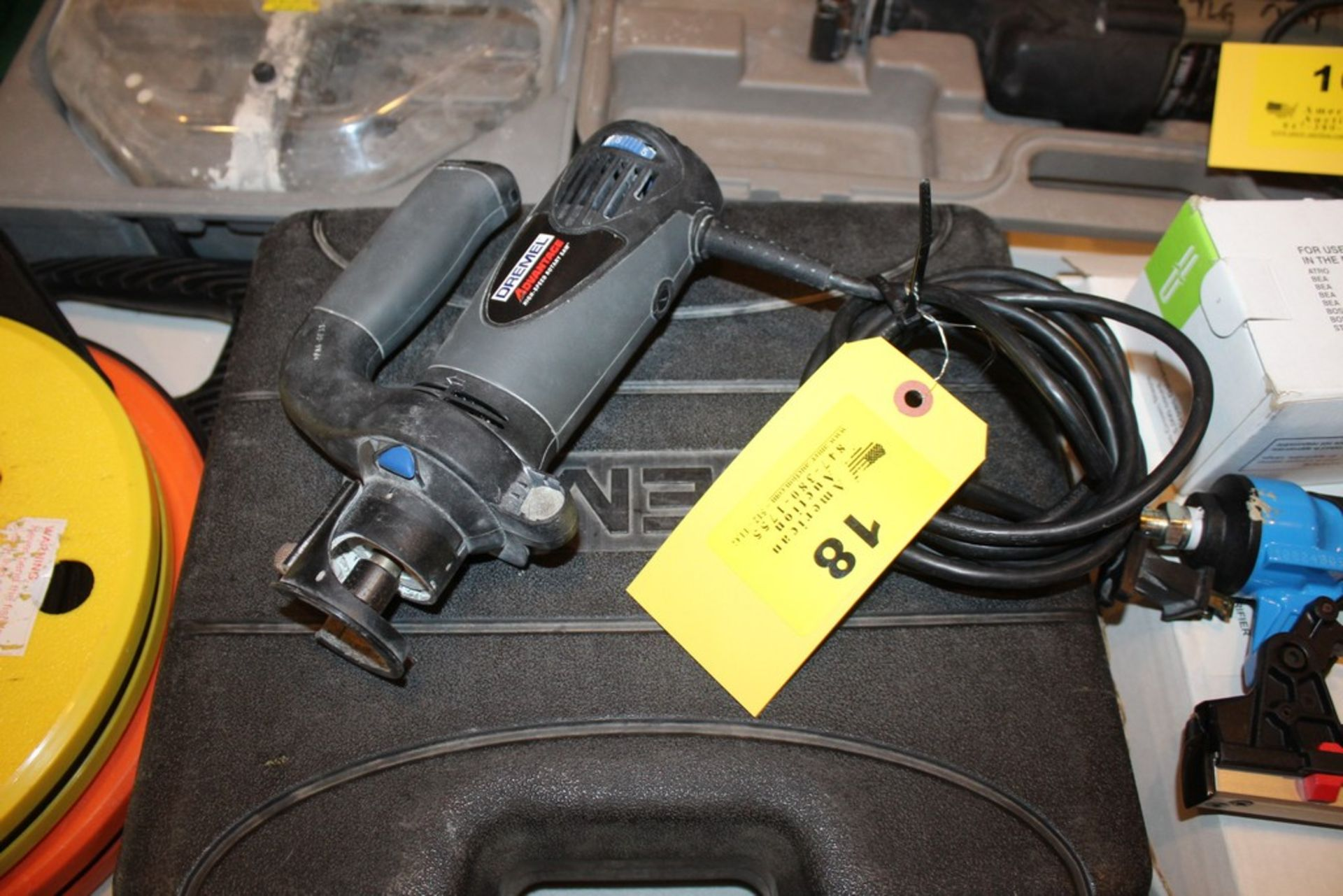 Lot 18 - DREMEL ADVANTAGE HIGH-SPEED ROTARY SAW AND DREMEL 7700 ROTARY TOOL WITH CASE, NO CHARGER FOR
