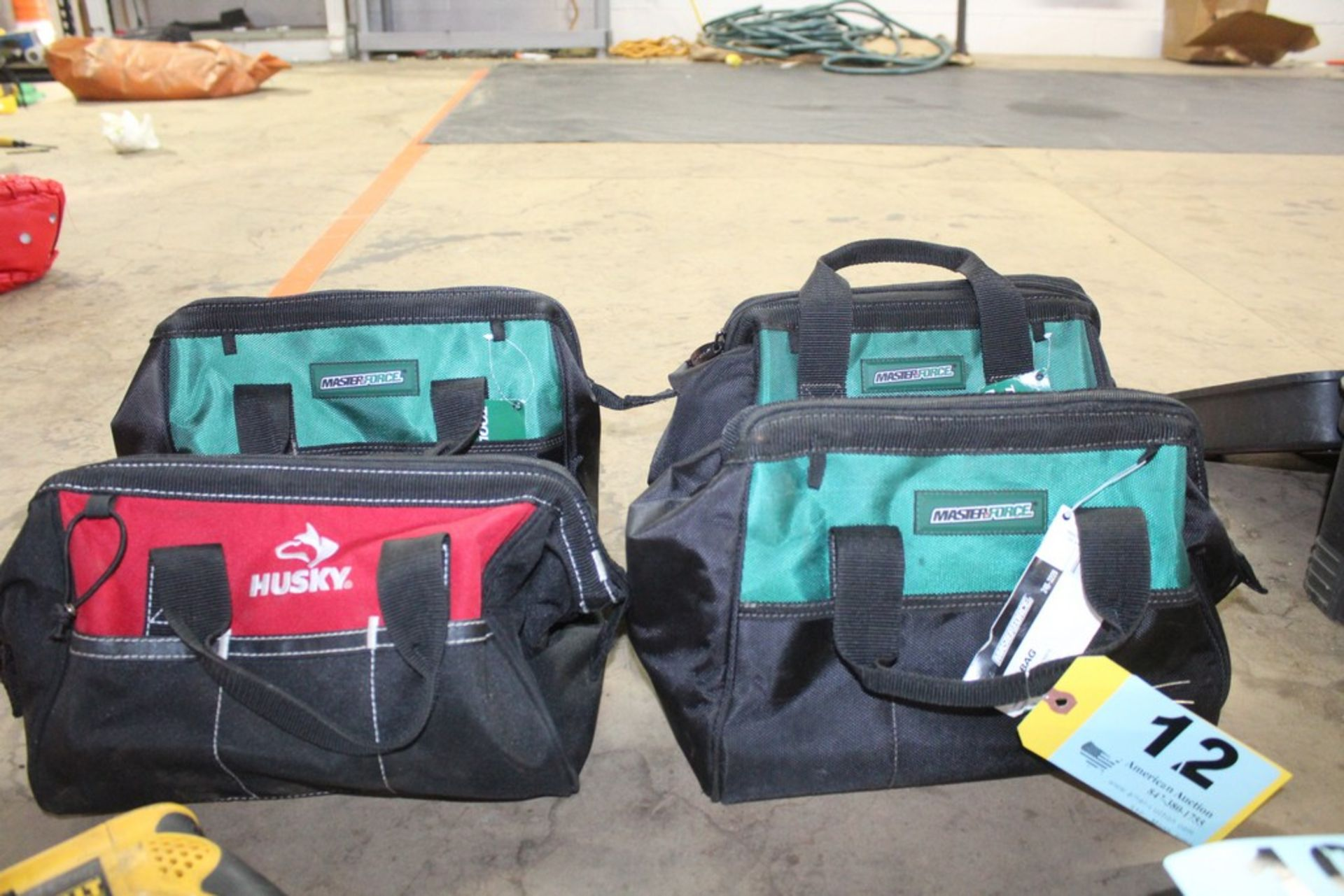 Lot 12 - (4) ASSORTED TOOL BAGS