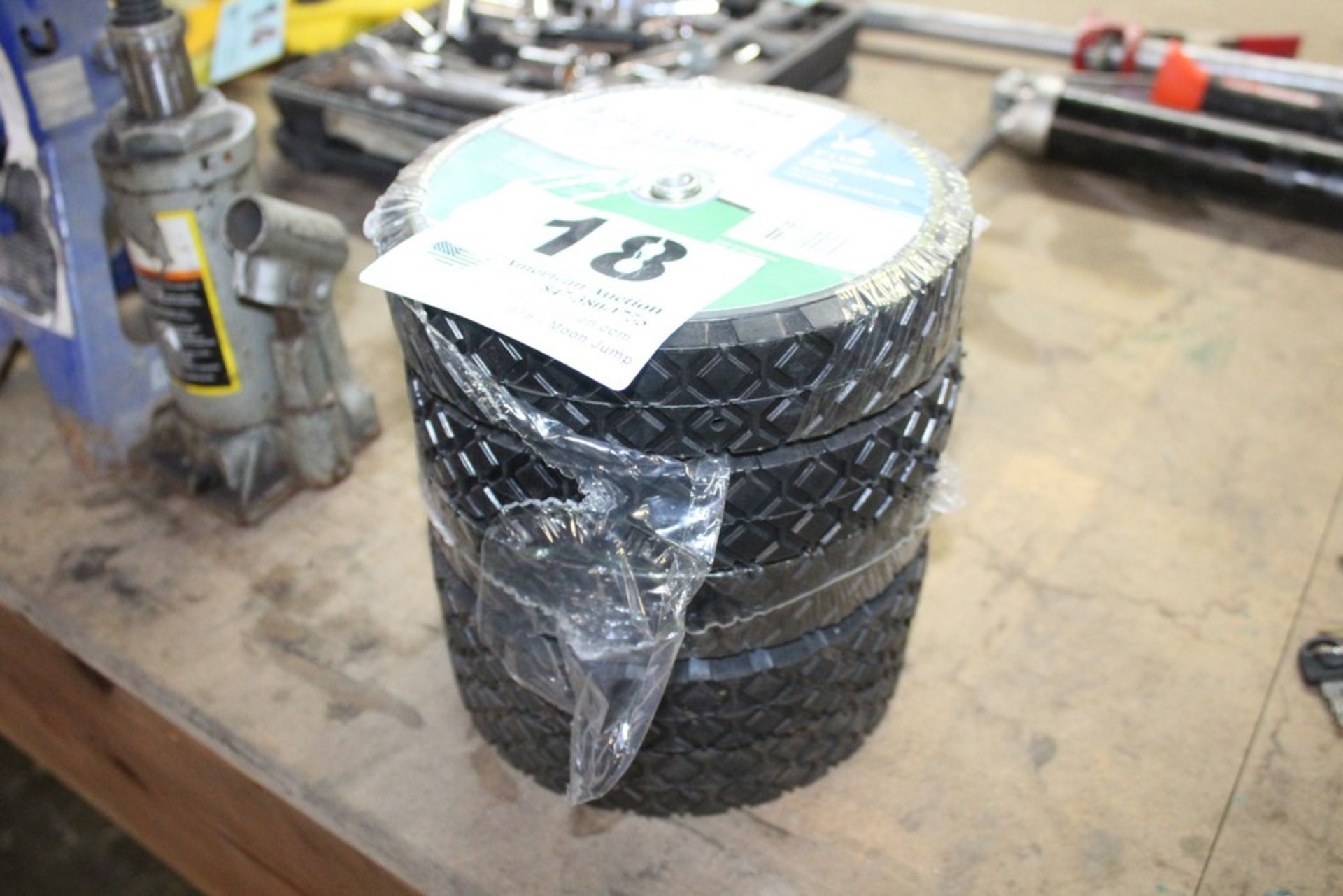 """Lot 18 - (5) 8"""" SOLID RUBBER TIRES"""