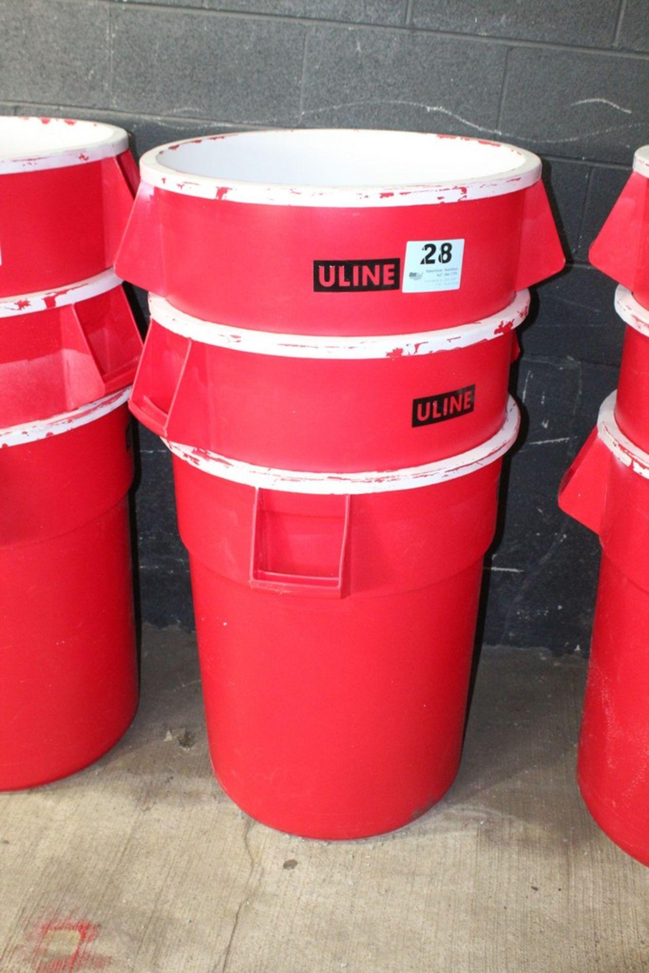Lot 28 - (3) U-LINE TRASH CANS