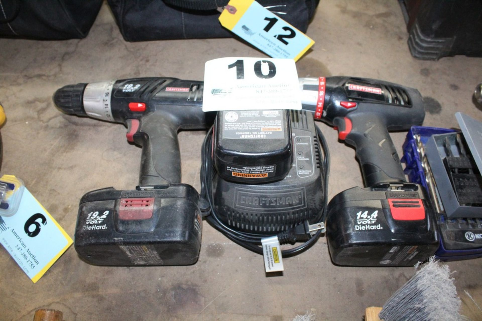 Lot 10 - (2) CRAFTSMAN ELECTRIC DRILLS WITH BATTERIES AND CHARGERS