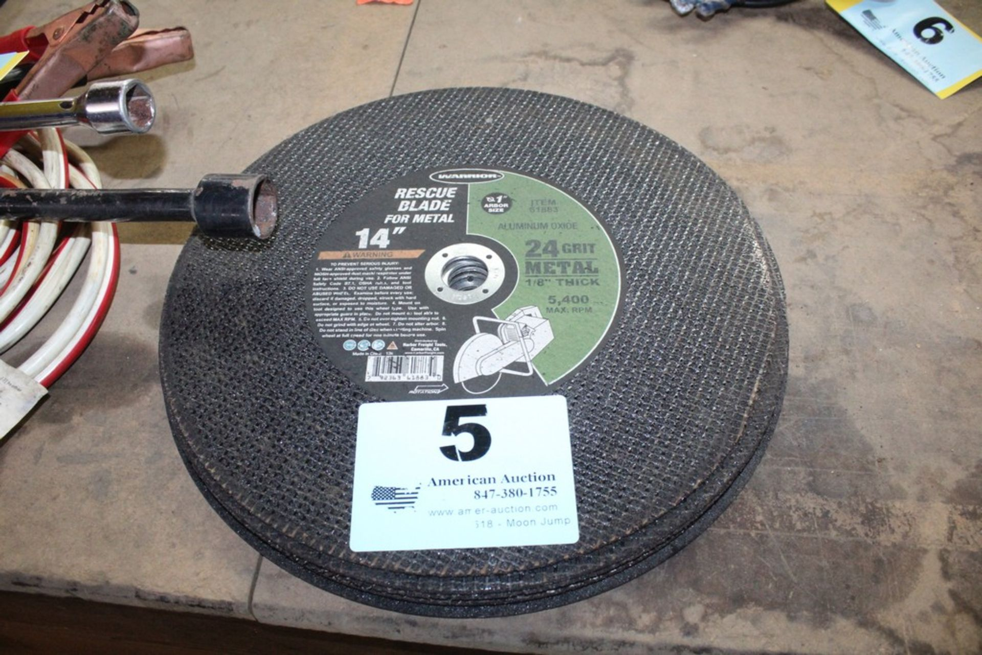 "Lot 5 - (7) 14"" ABRASIVE CUT-OFF BLADES"
