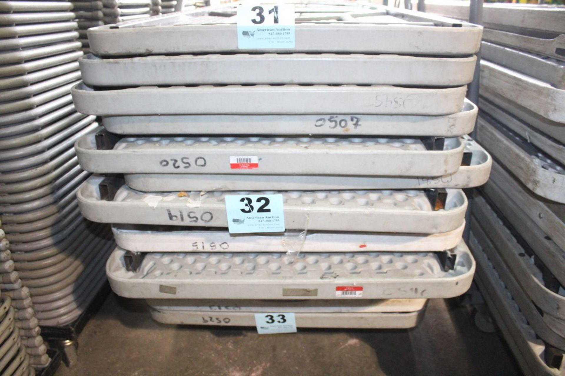 "Lot 32 - (5) PLASTIC FOLDING TABLES-96"" X 30"""