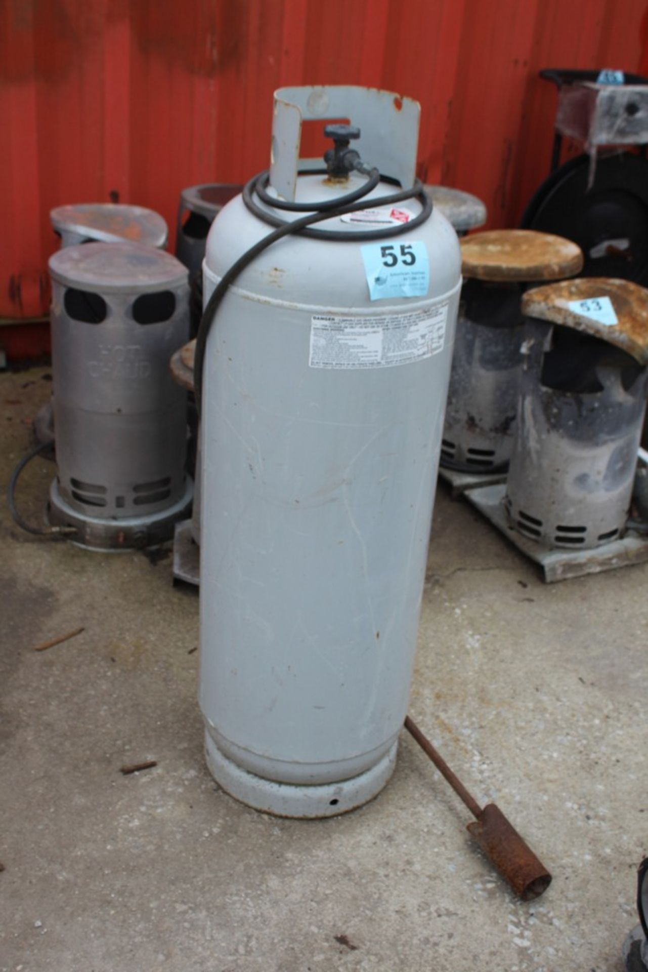 Lot 55 - PROPANE TANK WITH TORCH