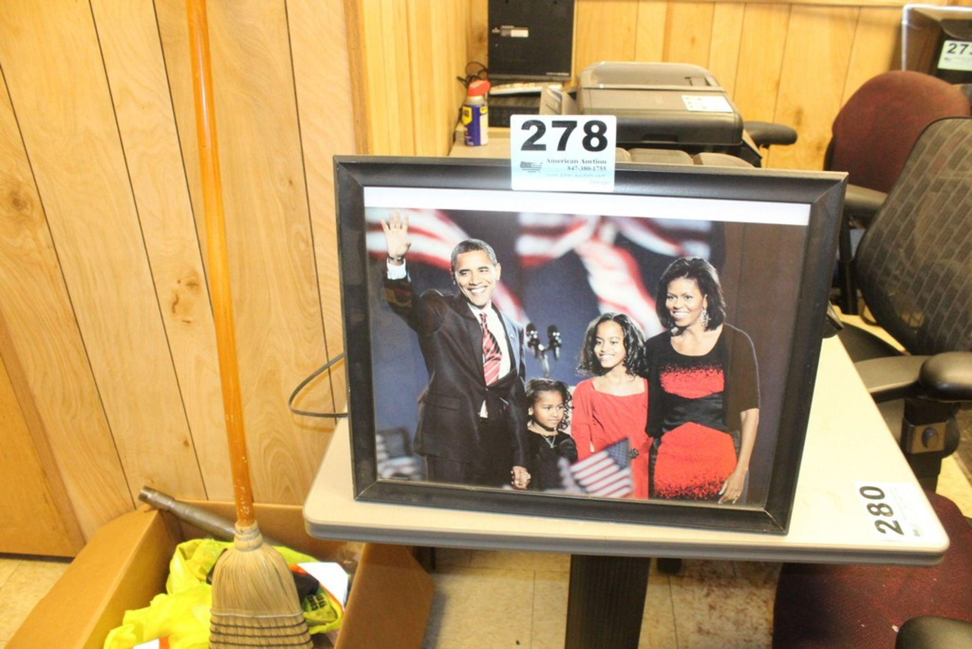 """Lot 278 - OBAMA FAMILY PICTURE 20"""" X 16"""""""