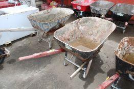 HEAVY DUTY CONSTRUCTION WHEEL BARROW BROKEN HANDLE