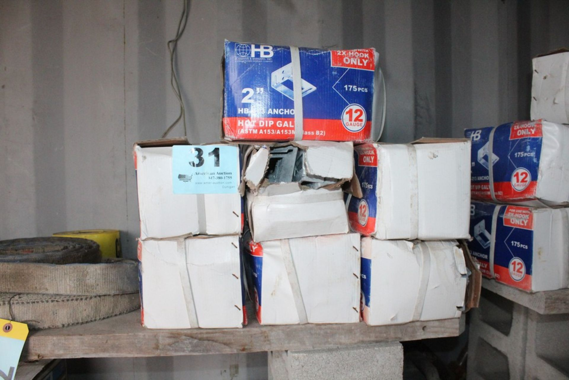 "Lot 31 - (7) BOXES OF HOHMANN & BARNARD HB 213 2"" ADJUSTABLE VENEER ANCHORS 175 PER BOX"