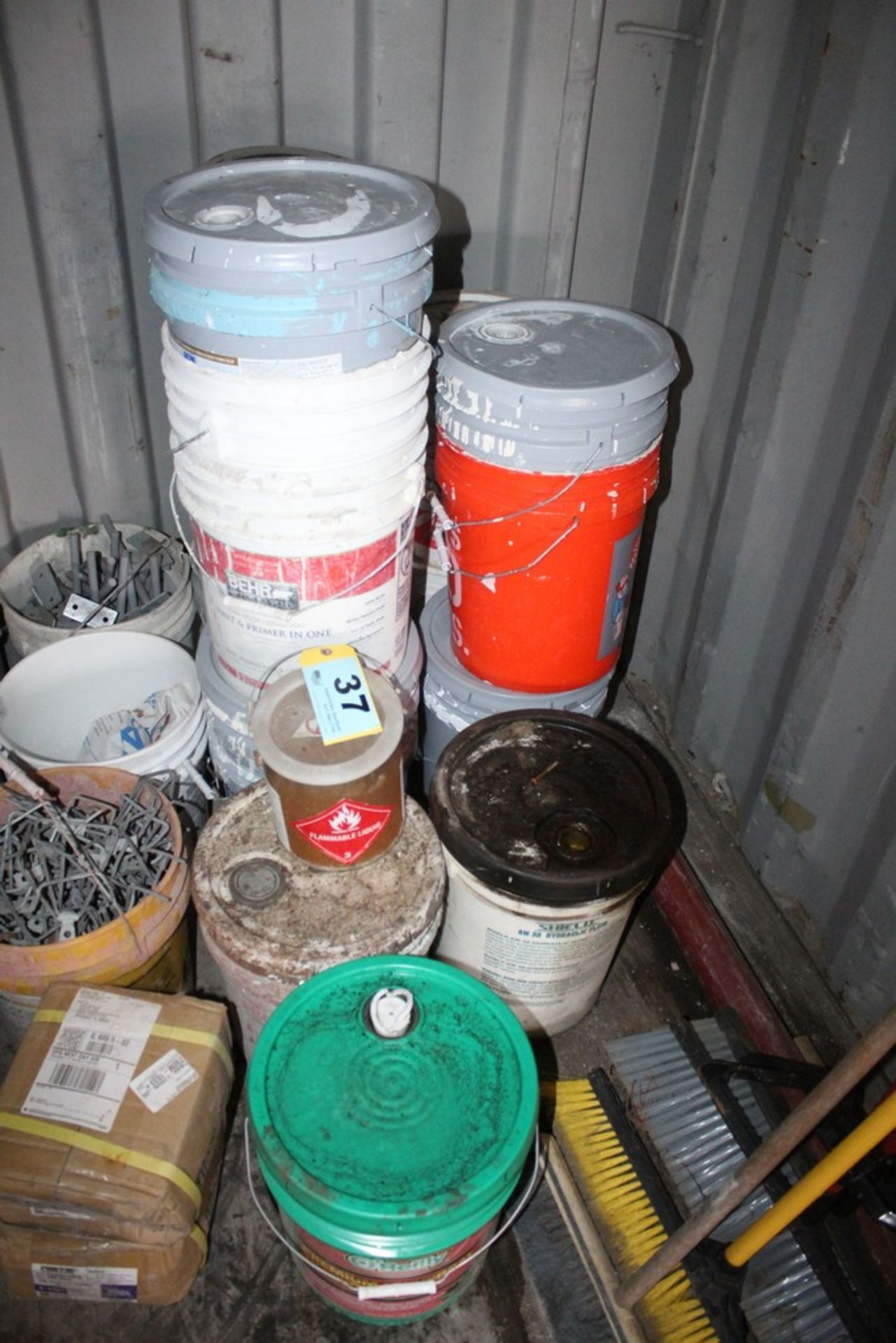 Lot 37 - ASSORTED FLUID IN 5 GALLON PAILS