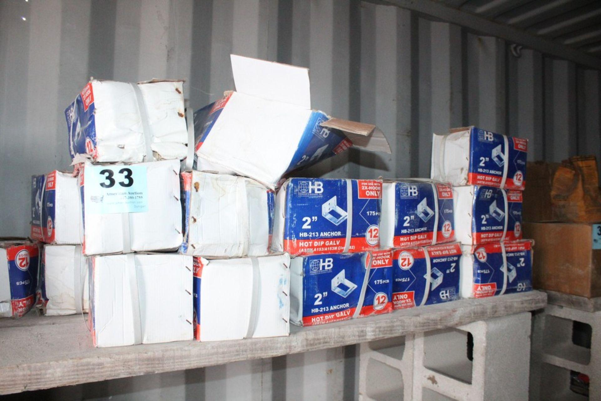 "Lot 33 - (18) BOXES OF HOHMANN & BARNARD HB 213 2"" ADJUSTABLE VENEER ANCHORS 175 PER BOX"