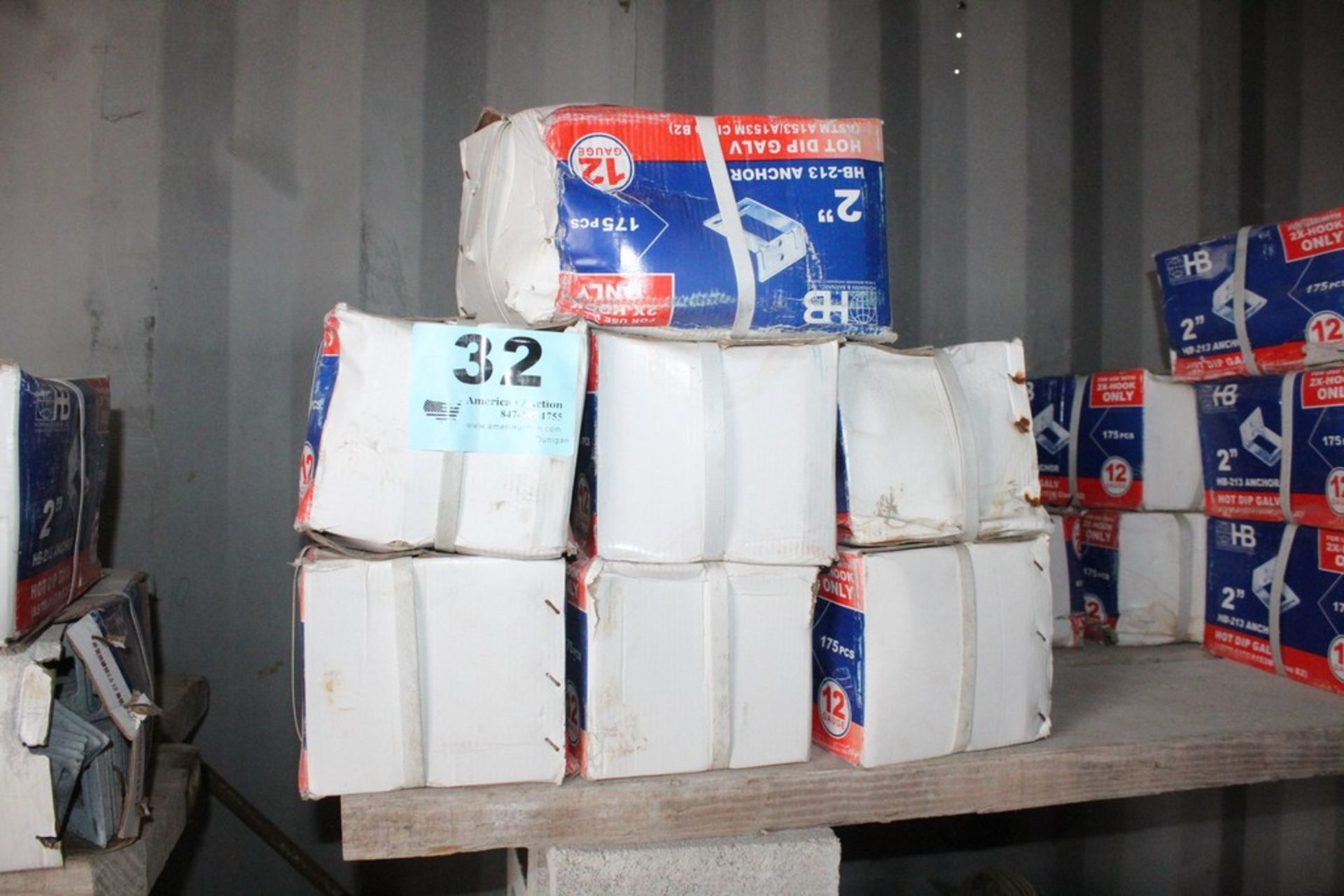 "Lot 32 - (9) BOXES OF HOHMANN & BARNARD HB 213 2"" ADJUSTABLE VENEER ANCHORS 175 PER BOX"