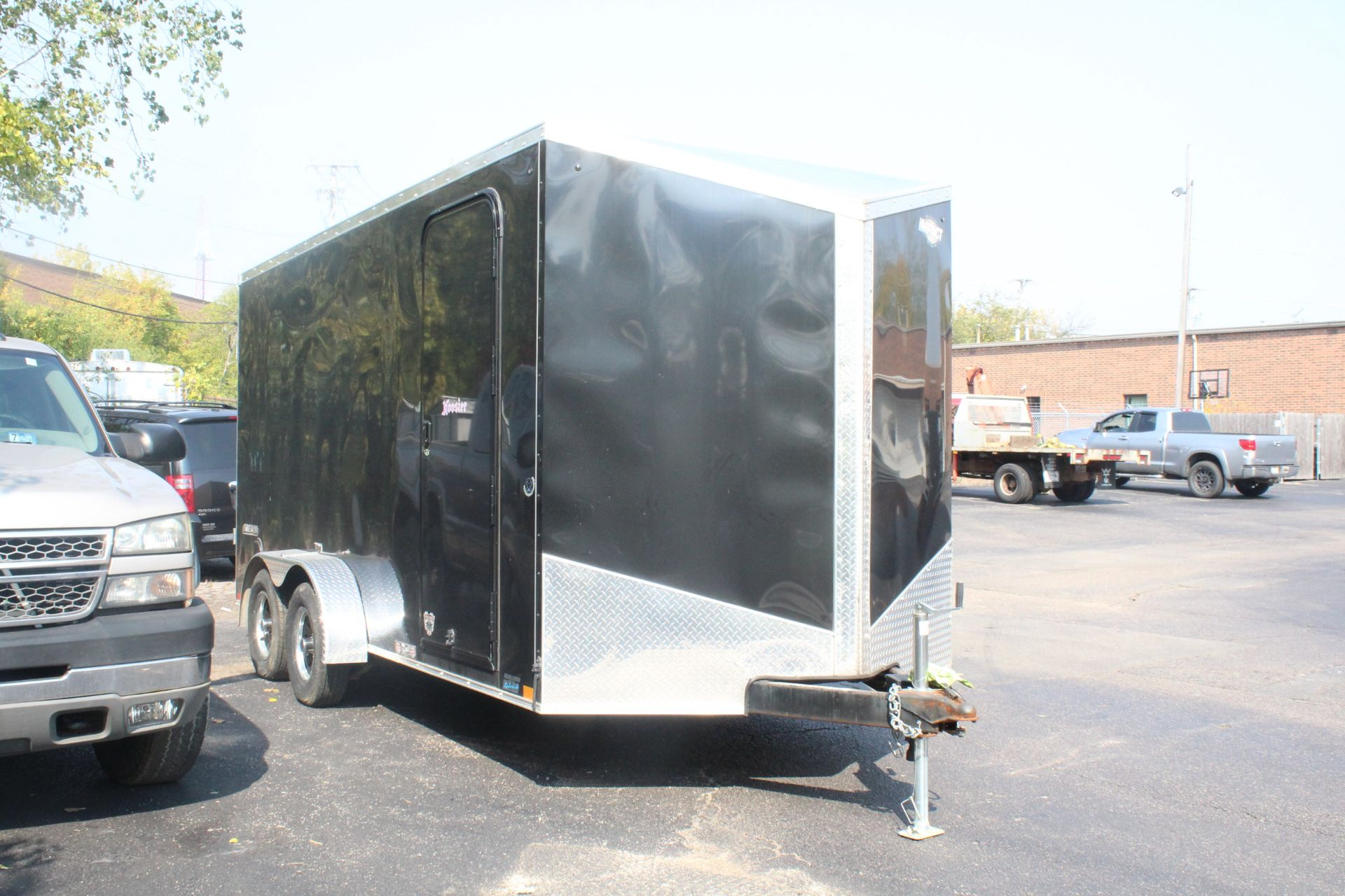 Lot 11 - 2018 IMPACT MODEL ITT716TA2 ENCLOSED CARGO TRAILER, 7FT X 16FT, VIN 7HLBE1627KE000527