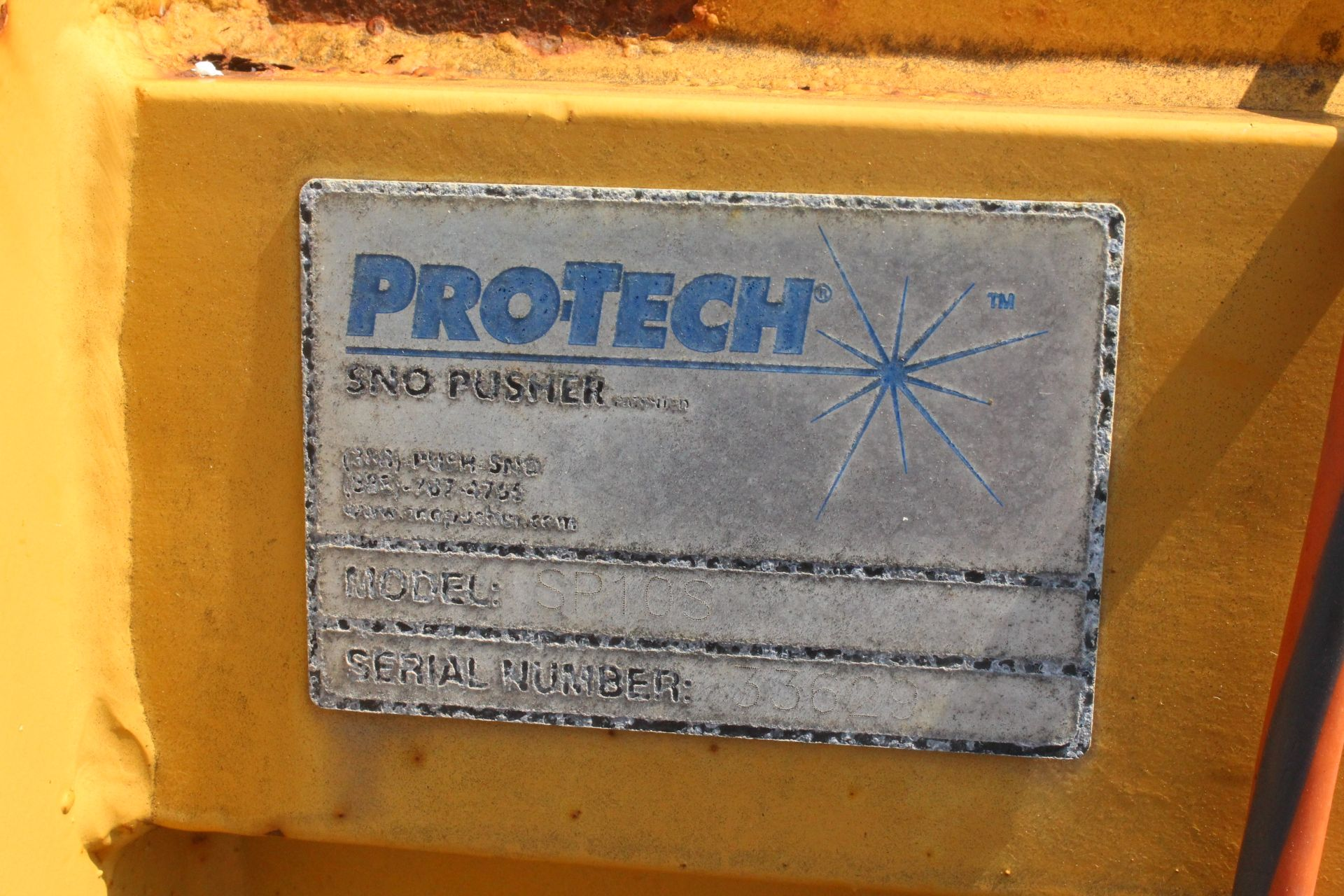 Lot 14 - PROTECH PRO TECH 10FT SWITCH BLADE SNOW PUSHER SKID STEER ATTACHMENT