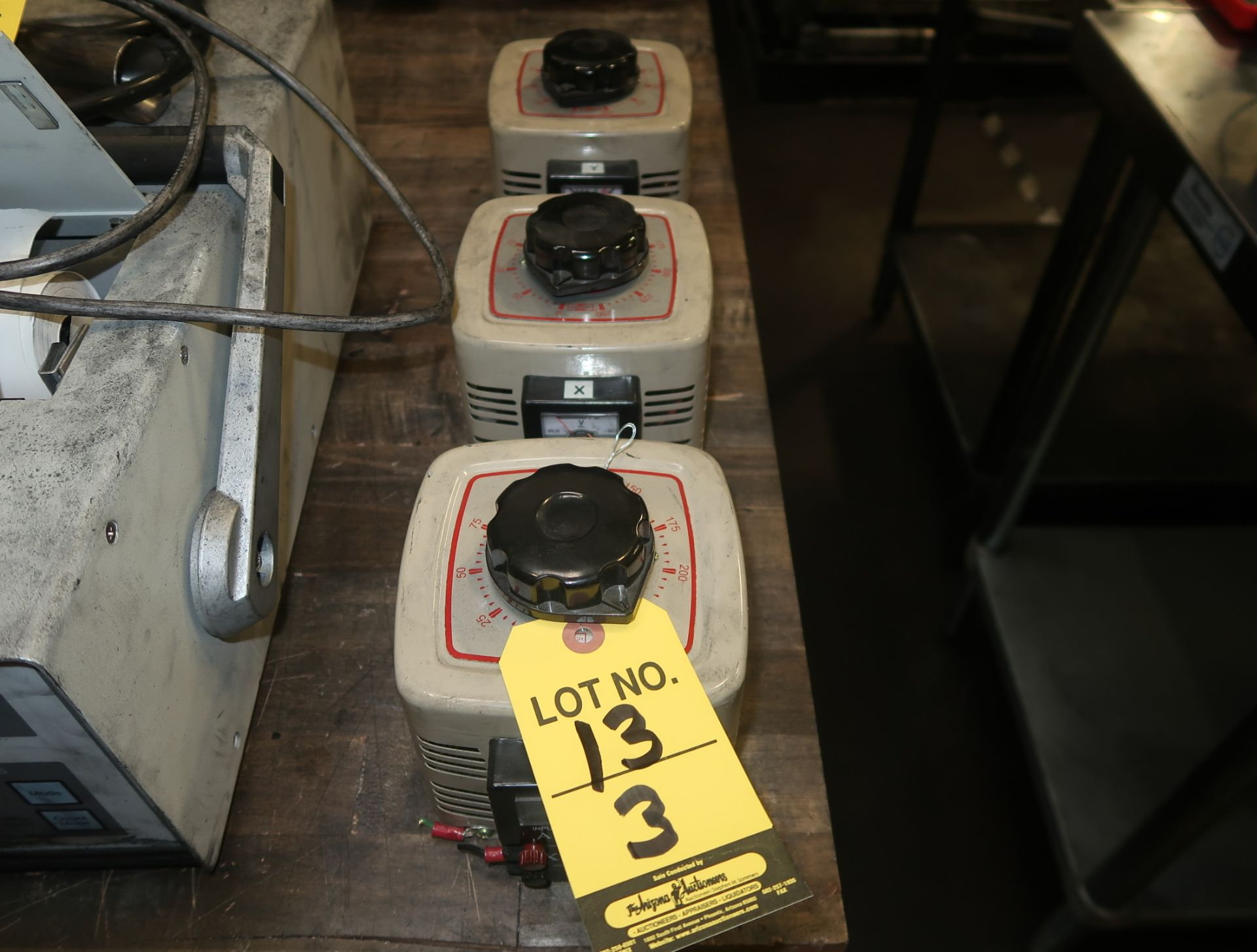 Lot 13 - MASTECH VARIABLE OUTPUT TRANSFORMERS