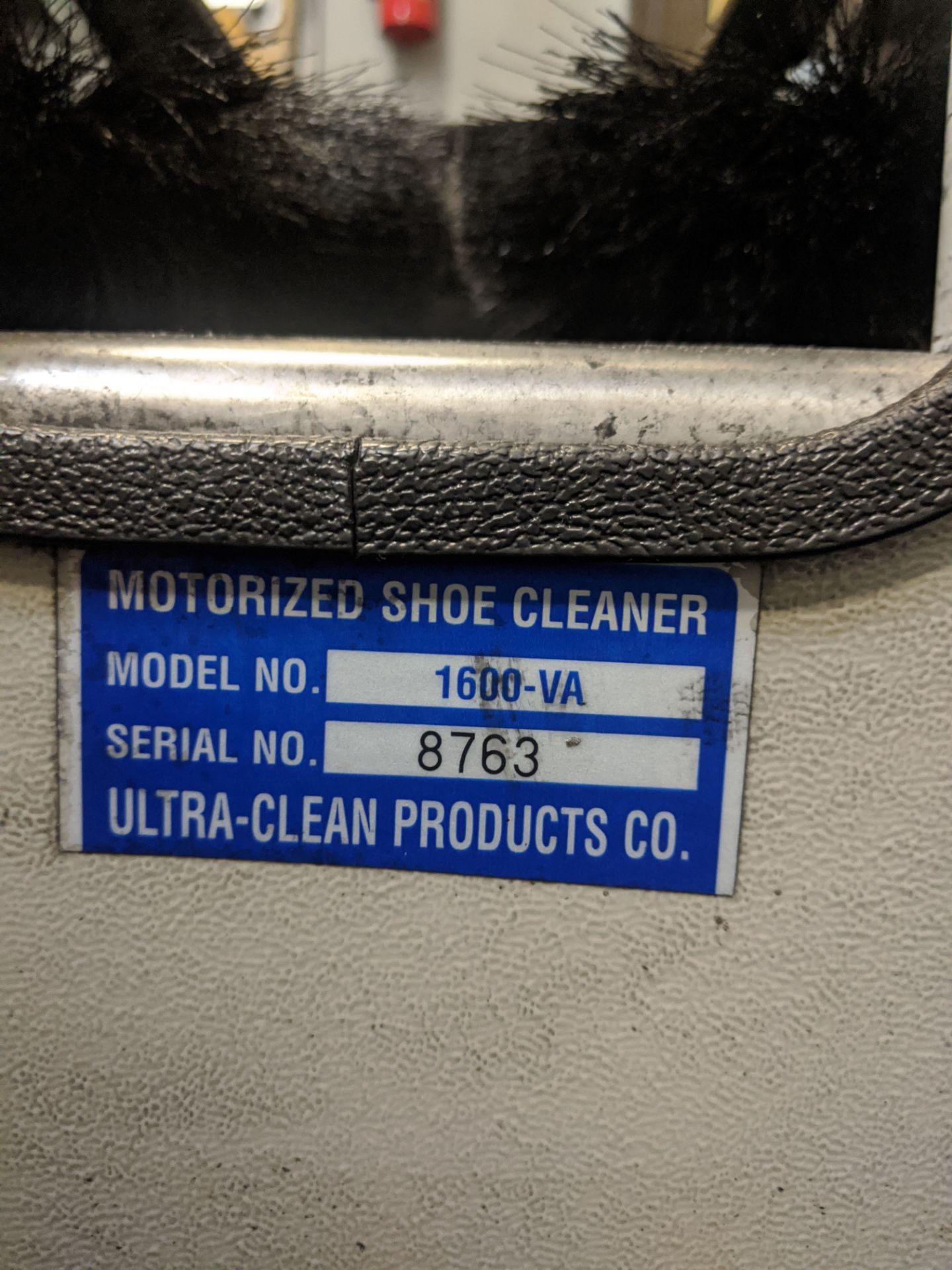 Lot 545 - ULTRA CLEAN PRODUCTS SHOE CLEANER, MDL. 1600-VA, SN. 8763