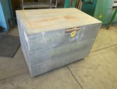 "SHOP FABRICATED GANG BOX 4' X 31"" X 30"" W/TRAY"