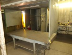 4' X 8' STEEL WELDING TABLE W/VENTHOOD & LIGHTING