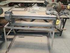 """PECK, STOW, WILCOX PEXTO 36"""" X 22 GAUGE ROLL ON STAND MDL. 381-D SN. 6/54"""