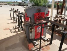EDWARDS IRON WORKER,60 TON SN. 01099161W60 W/ ROLLER STANDS