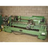 NARDINI-ND 1560E GAP BED ENGINE LATHE W/3-JAW CHUCK, QUICK CHANGE TOOLPOST W/3-HOLDERS, 5C COLLET