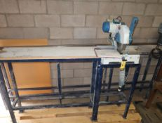 """OMGA MEC300 10"""" 220V COMMERCIAL CHOPSAW W/ RUNOUT TABLE"""