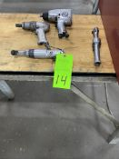 Lot of (4) pneumatic hand tools