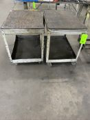 Lot (2) Metal Push carts