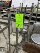 lot of Variuos stools and shop chairs