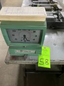 Electric time card punch