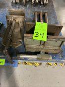 lot of (2) wilton machine vises one bench vise