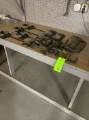 Lot of Metal C -Clamps and Adjustable clamps