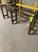 Steel support shop table,